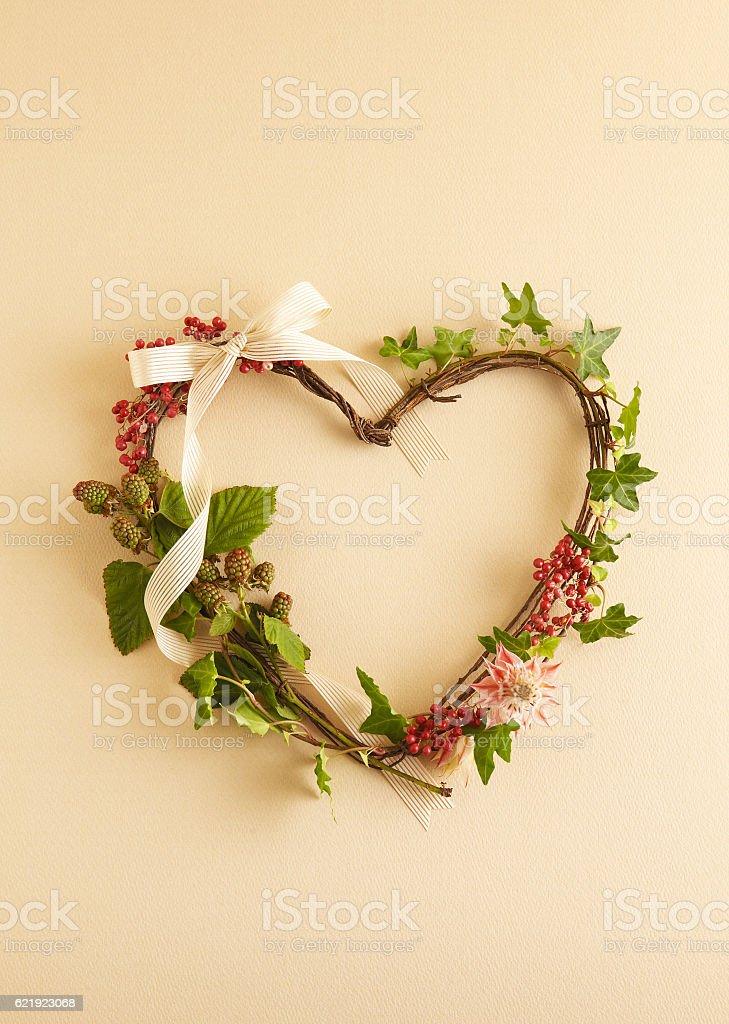 Christmas wreath from fir stock photo