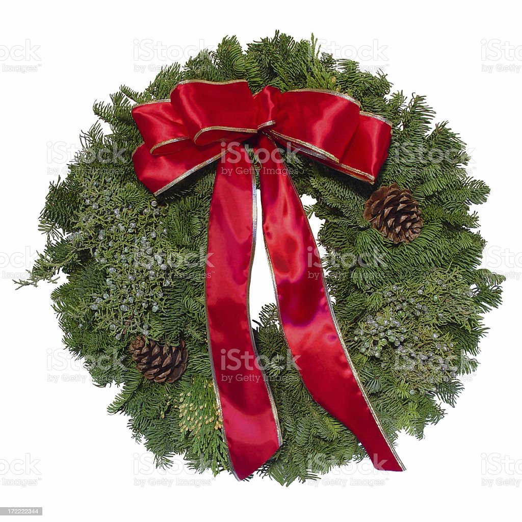 Christmas Wreath Isolated royalty-free stock photo