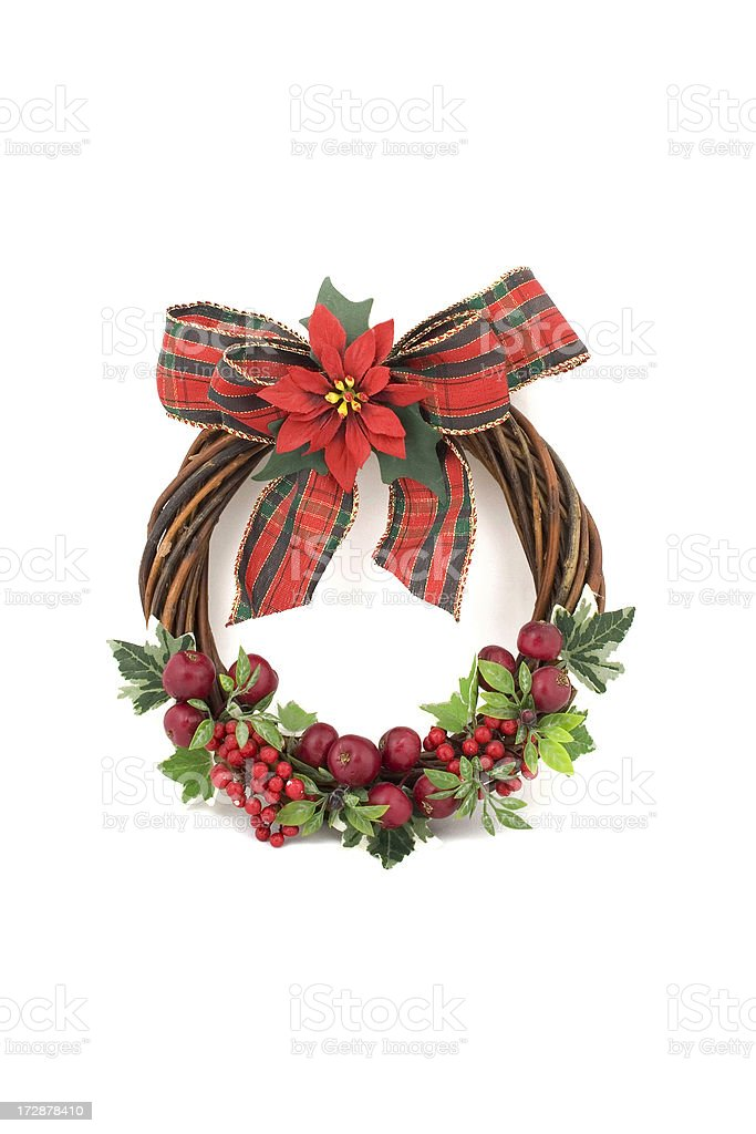 Christmas  Wreath nice door decoration royalty-free stock photo