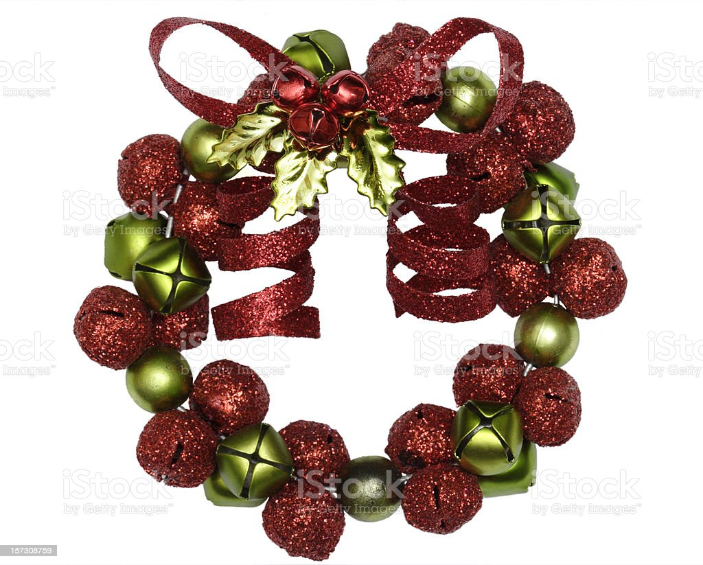 Christmas Wreath Ornament with Bells royalty-free stock photo