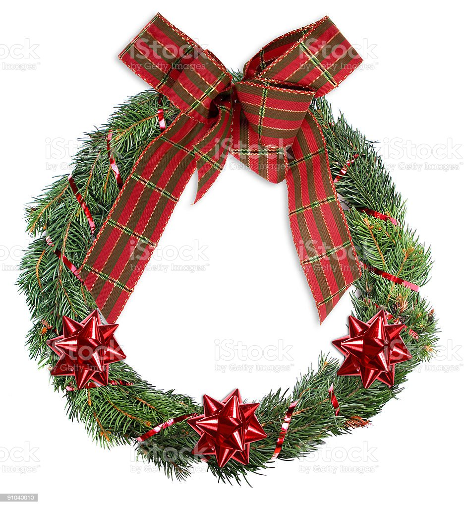 Christmas Wreath royalty-free stock photo