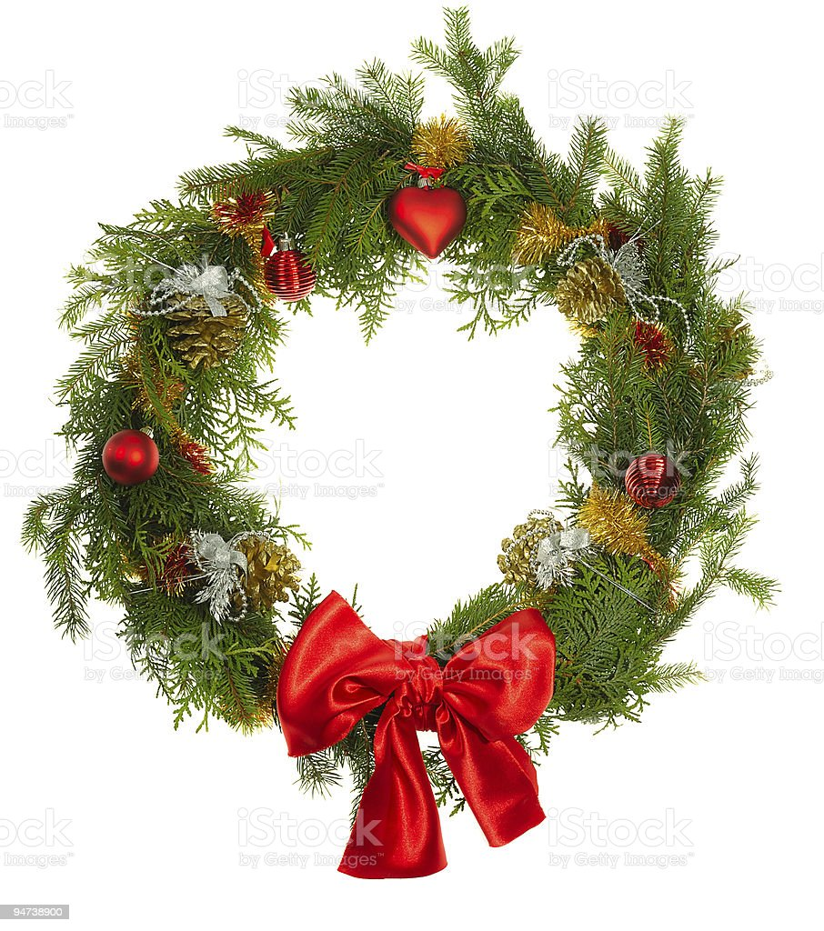 christmas wreatlh royalty-free stock photo