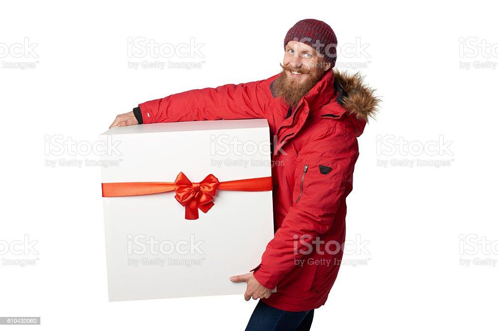 Christmas, x-mas, winter gift concept stock photo