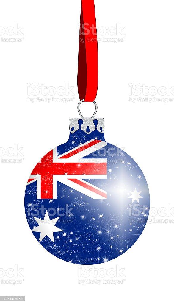 Christmas_tree_ball_Australia stock photo