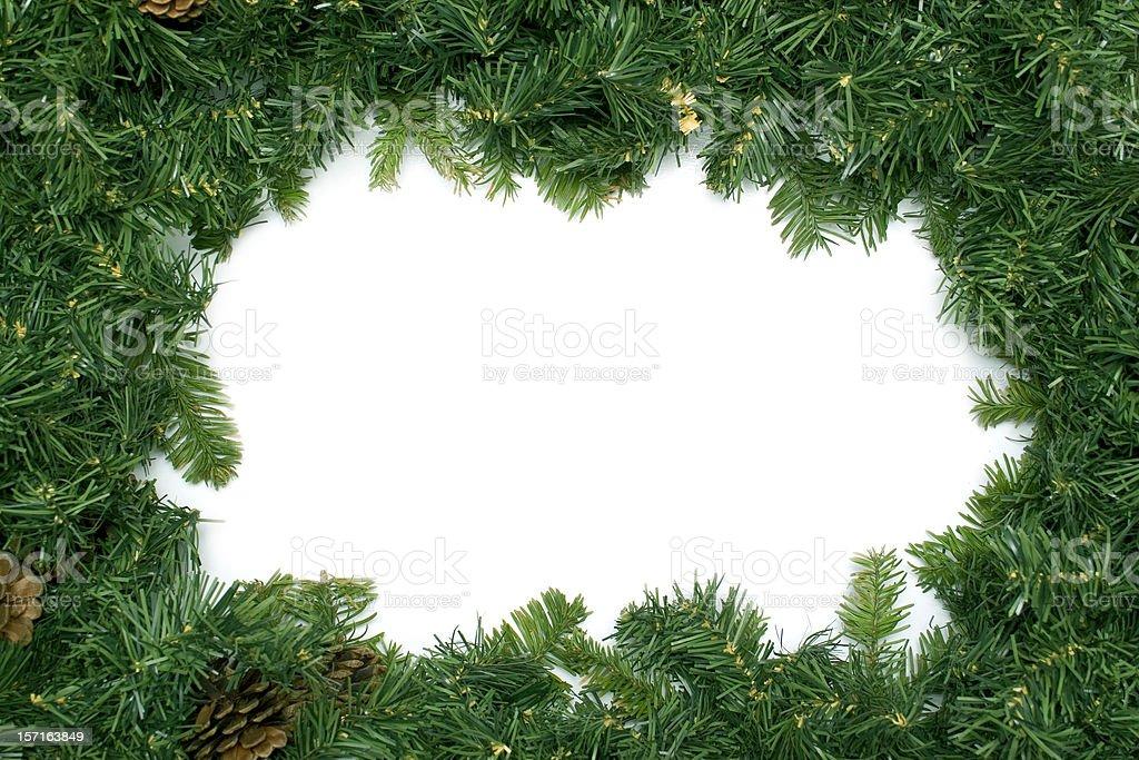 Christmas/Holiday Wreath Border royalty-free stock photo