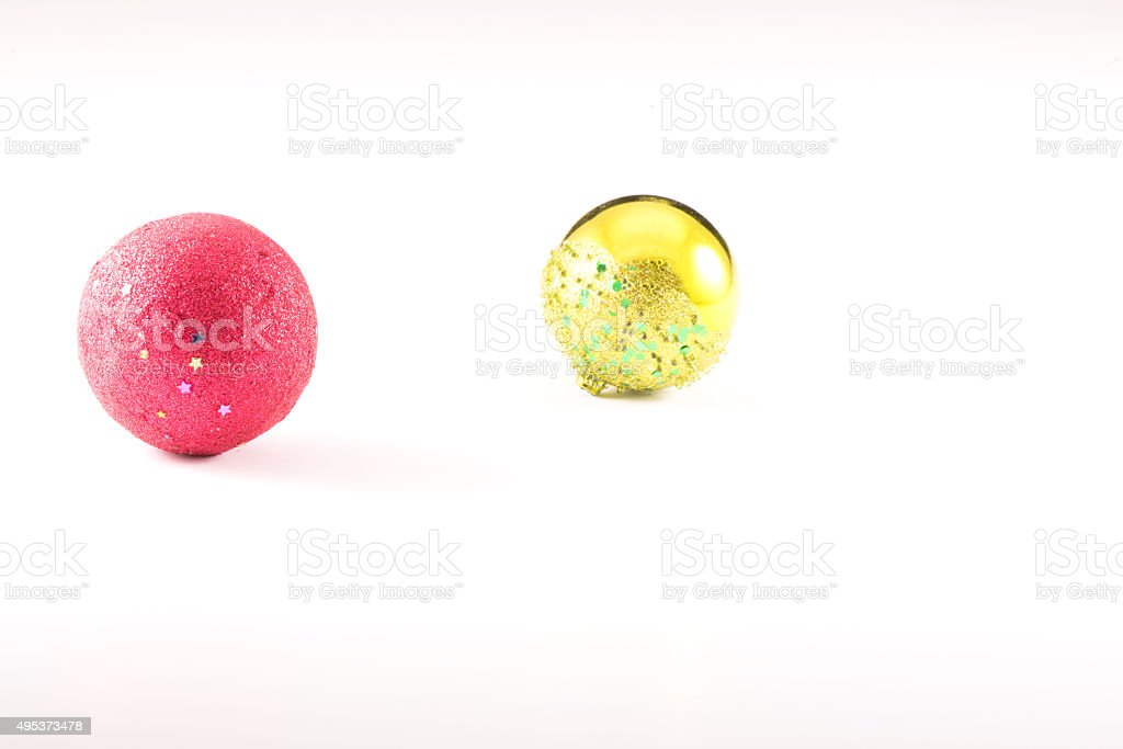 Christmass Balls with white background stock photo
