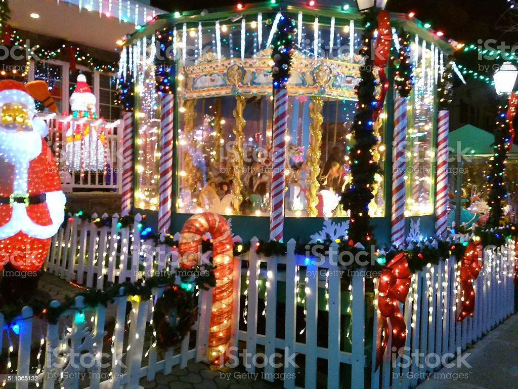 Christmass lights stock photo