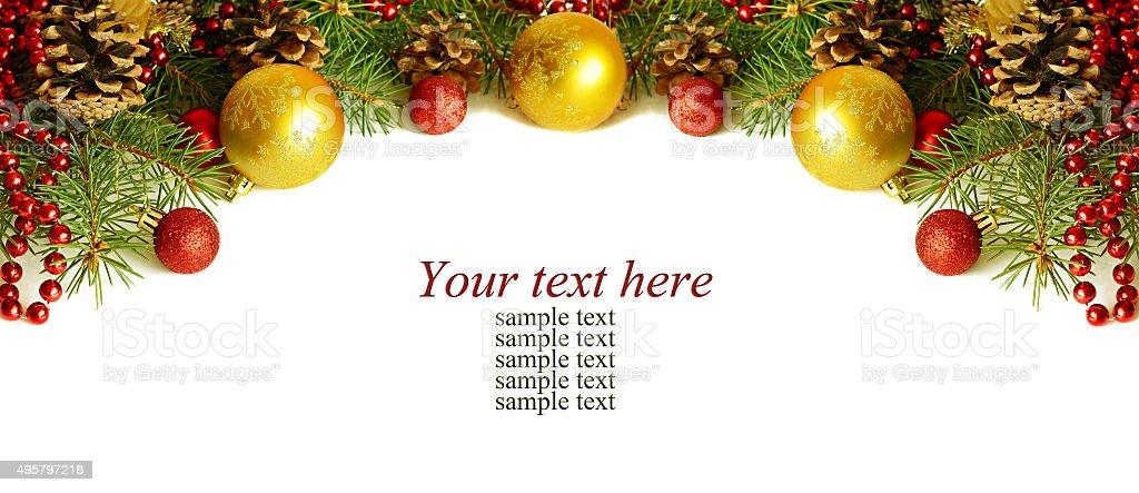 Christmass top decoration stock photo
