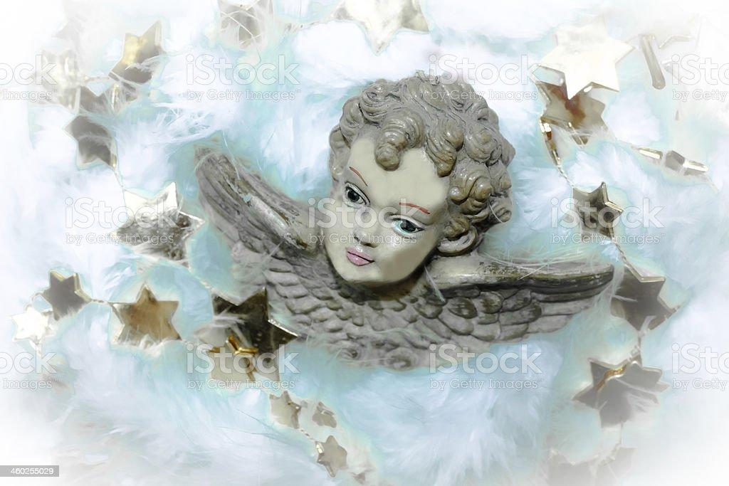 Christmassy angels stock photo