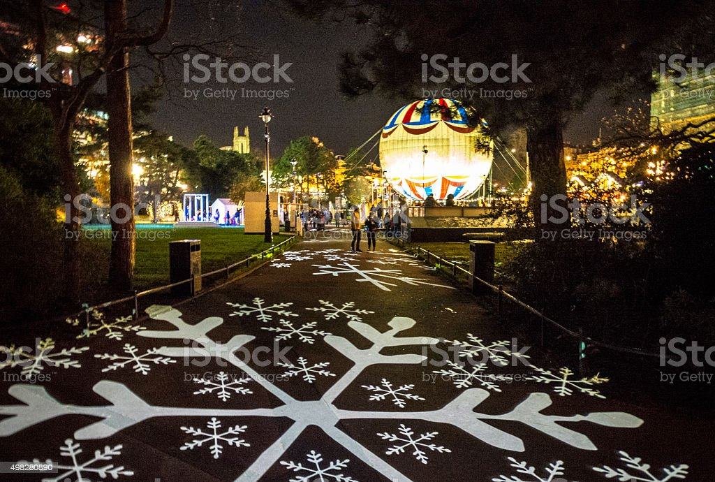 Christmassy Footpath stock photo