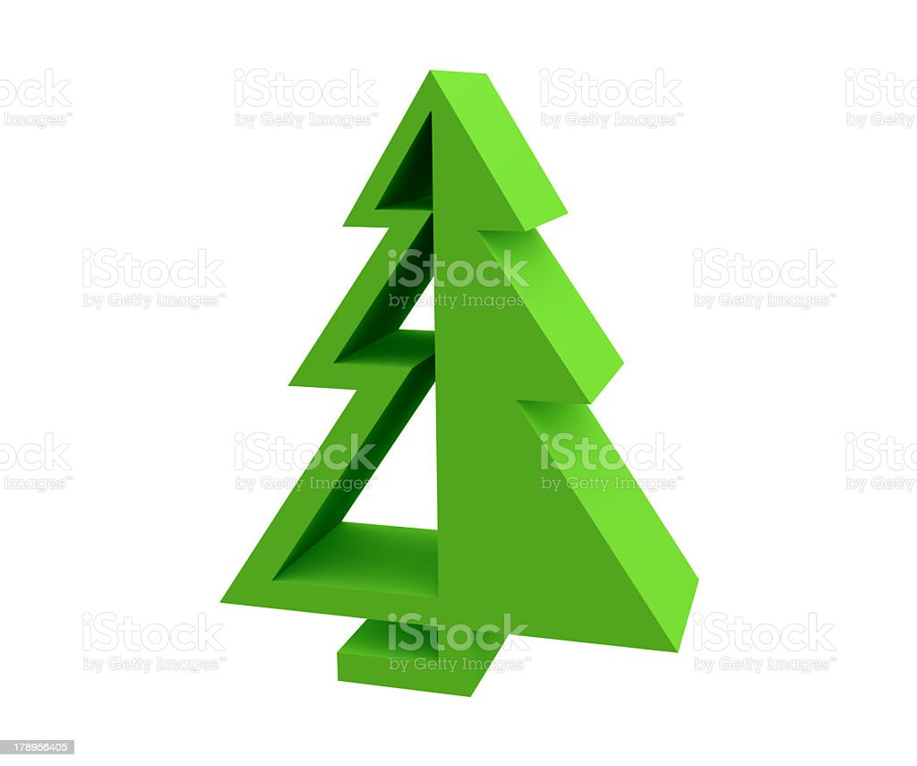 Christmas-tree 3D royalty-free stock photo