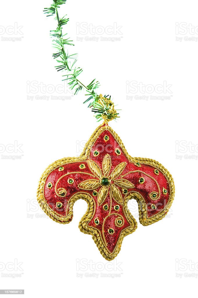 Christmas-tree decorations royalty-free stock photo