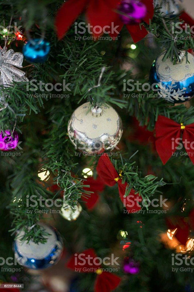 Christmas-tree ornament stock photo