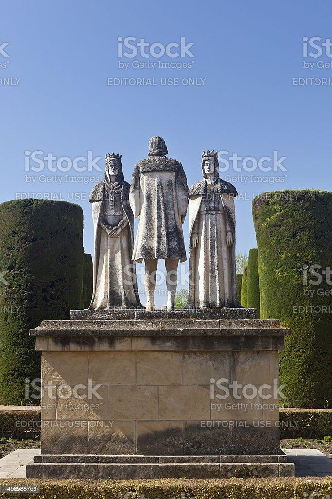 Christopher Columbus Statue In Cordoba, Spain stock photo