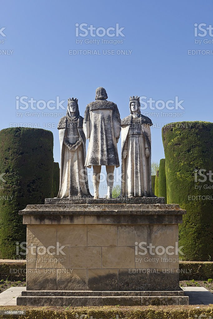 Christopher Columbus Statue In Cordoba, Spain stock photo
