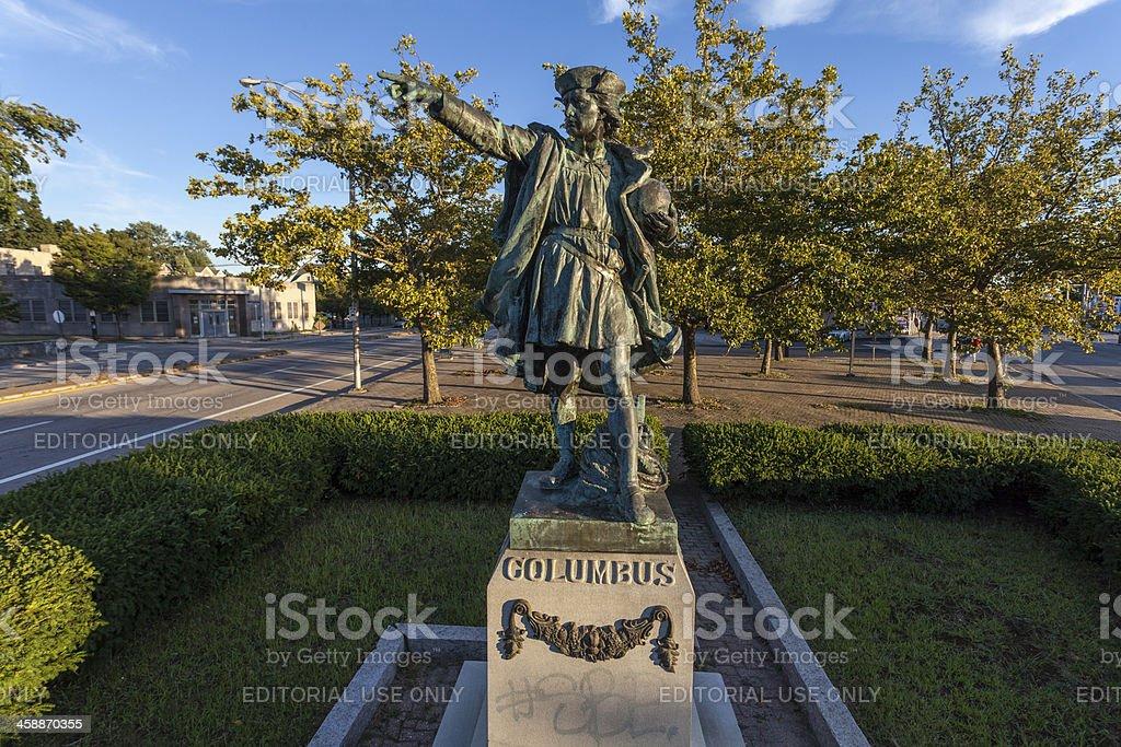 Christopher Columbus Statue royalty-free stock photo