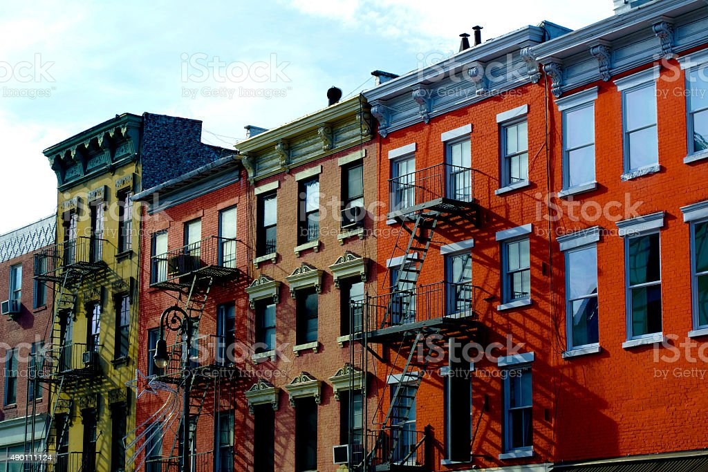 Christopher Street Apartments stock photo