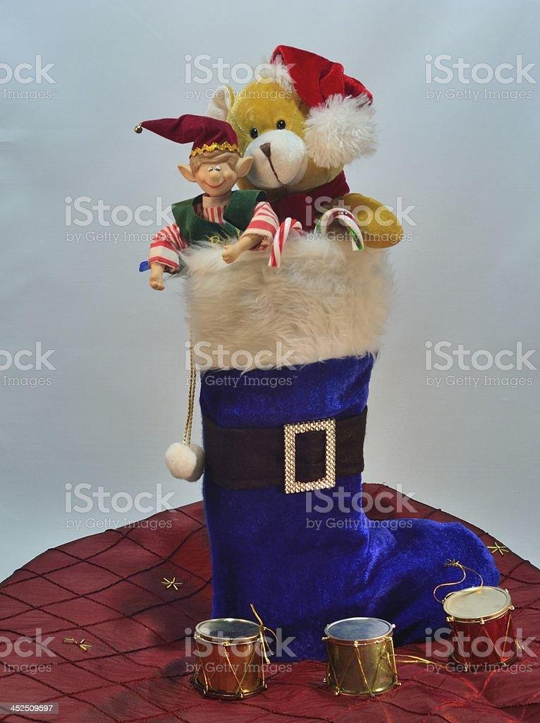 Christrmas stocking stock photo