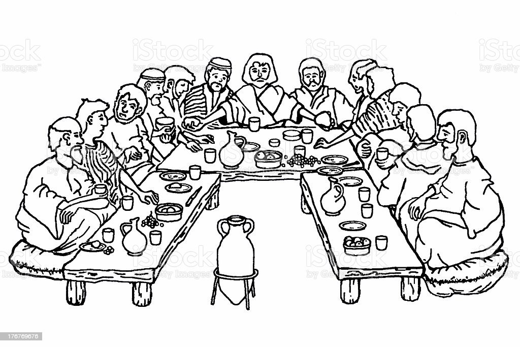 Christ's Last Supper stock photo