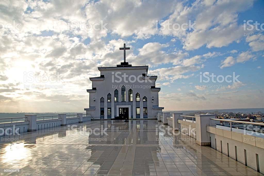 Christ's Resurrection Church in Kaunas, Lithuania stock photo