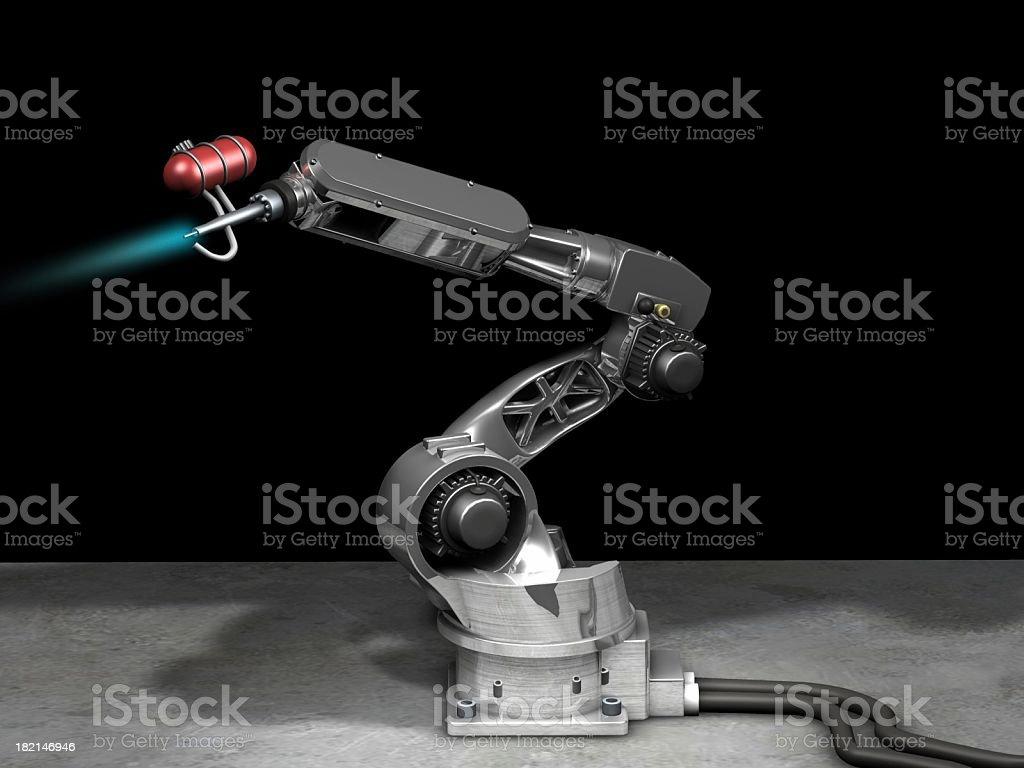 chrom robot royalty-free stock photo