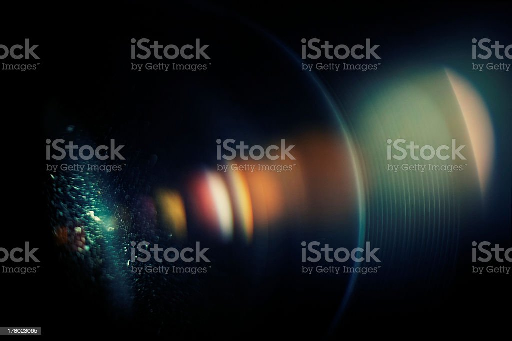 Chromatic aberration in the lens. Macro, high ISO stock photo