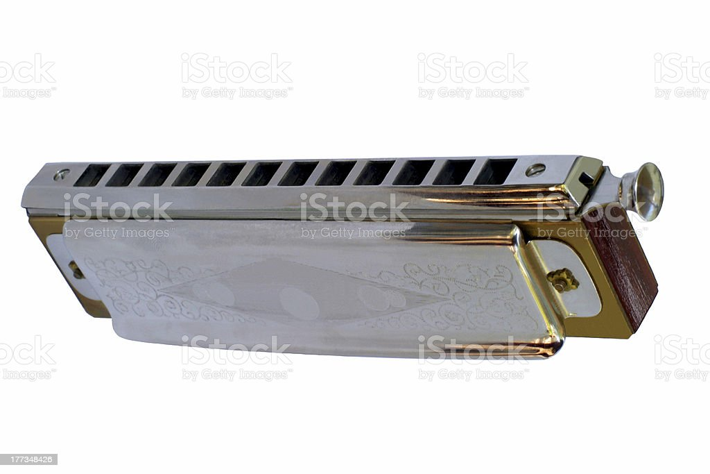 Chromatic Harmonica - View from below royalty-free stock photo