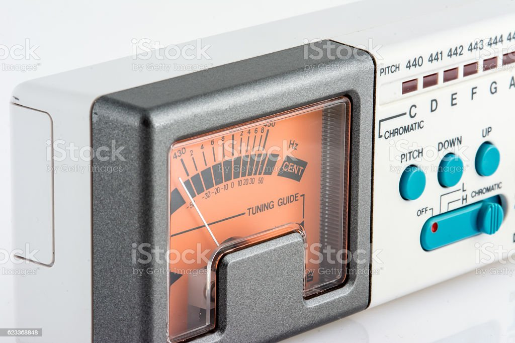Chromatic Instrument Tuner stock photo