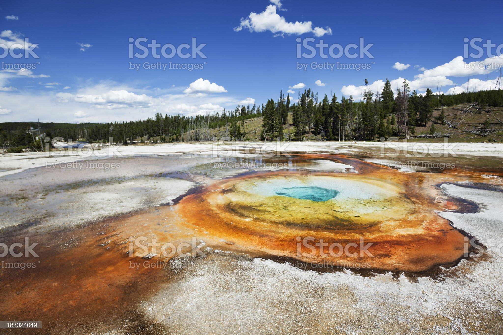Chromatic Pool at Old Faithful Geyser Basin royalty-free stock photo