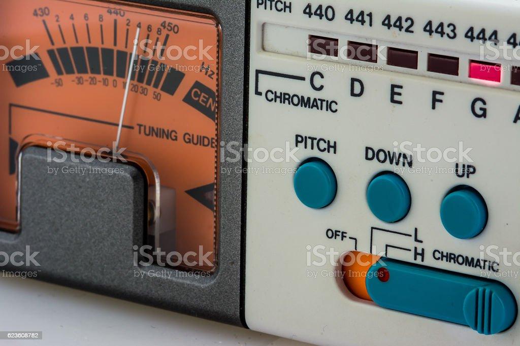 Chromatic Tuner stock photo