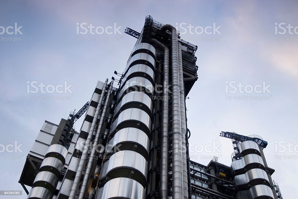 Chrome and steel architecture stock photo