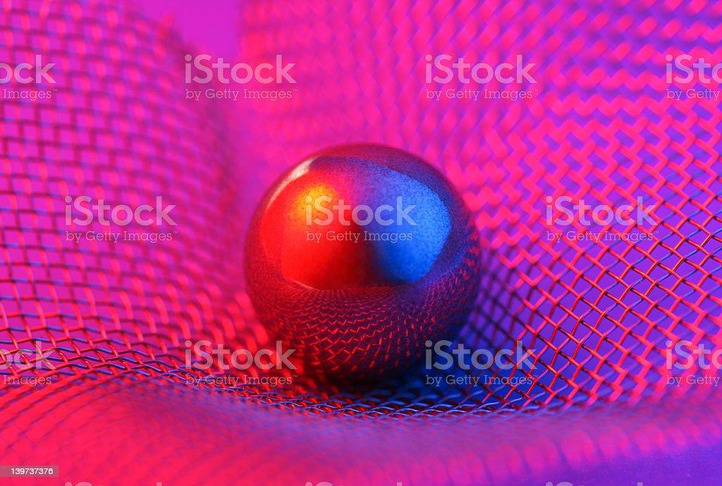 Chrome Ball royalty-free stock photo