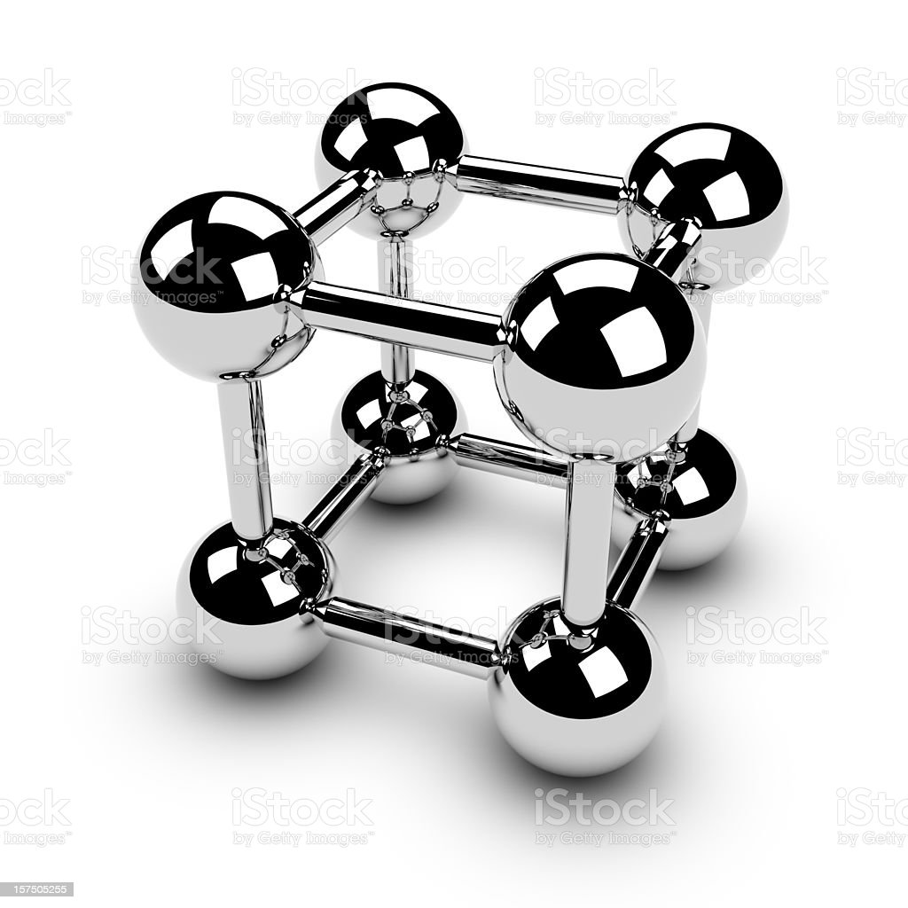 Chrome balls in square royalty-free stock photo