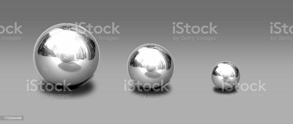 chrome balls royalty-free stock photo