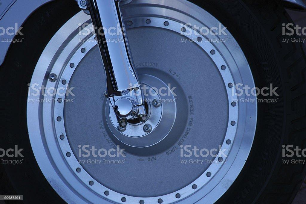 Chrome Chopper Wheel stock photo