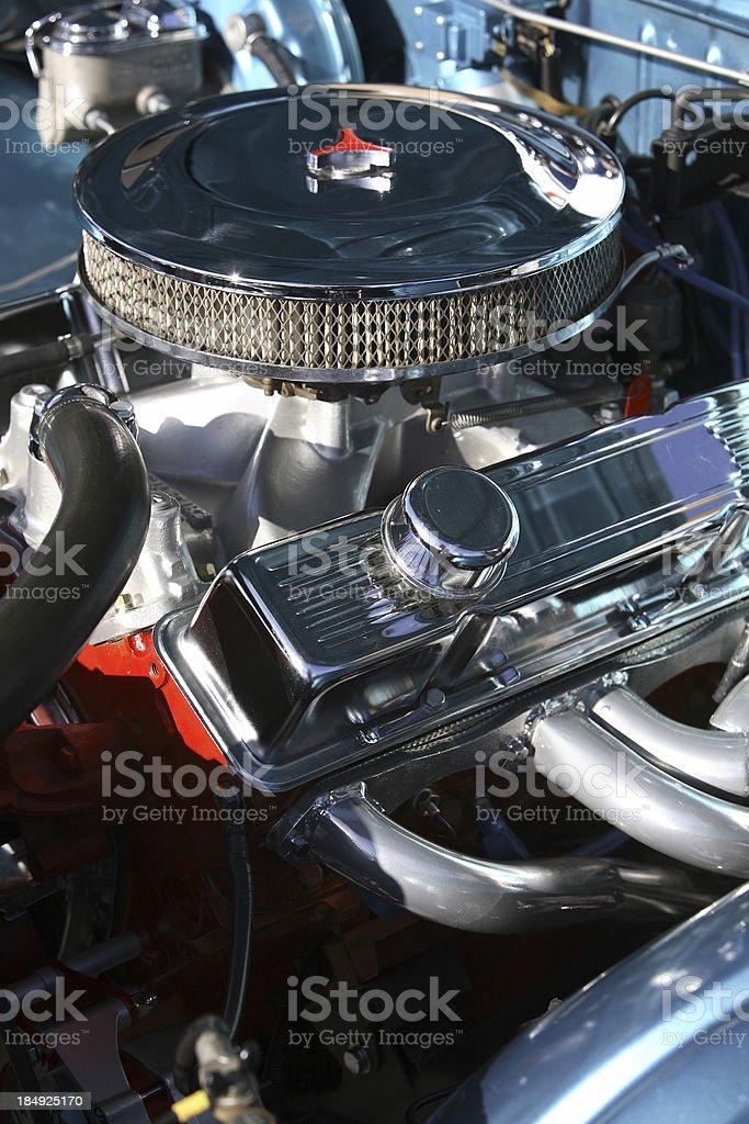 Chrome Engine Bay royalty-free stock photo