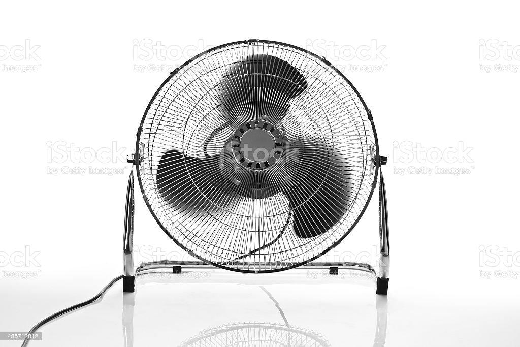 chrome fan front view stock photo
