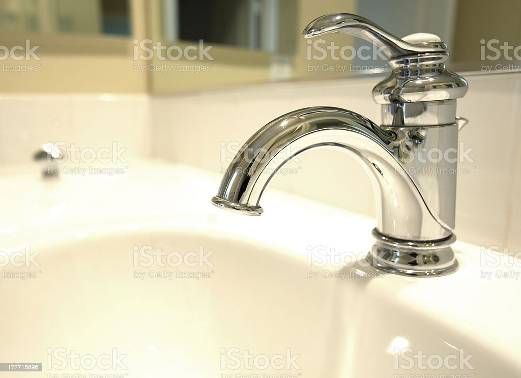 Chrome faucet royalty-free stock photo