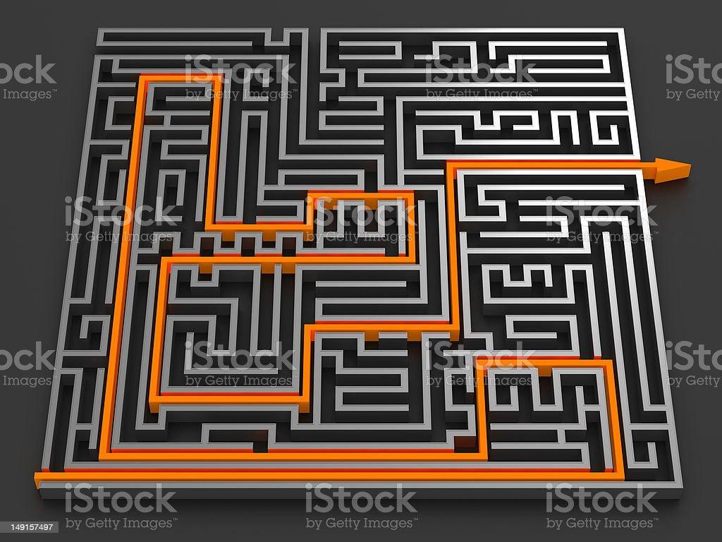 Chrome Maze royalty-free stock photo