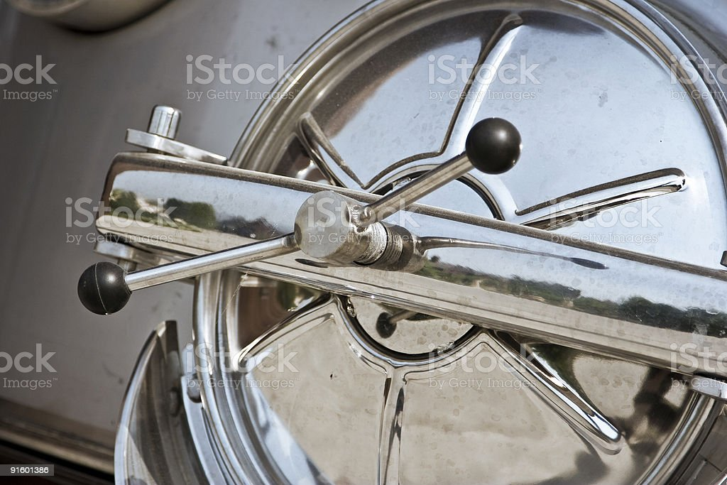 Chrome metal door royalty-free stock photo