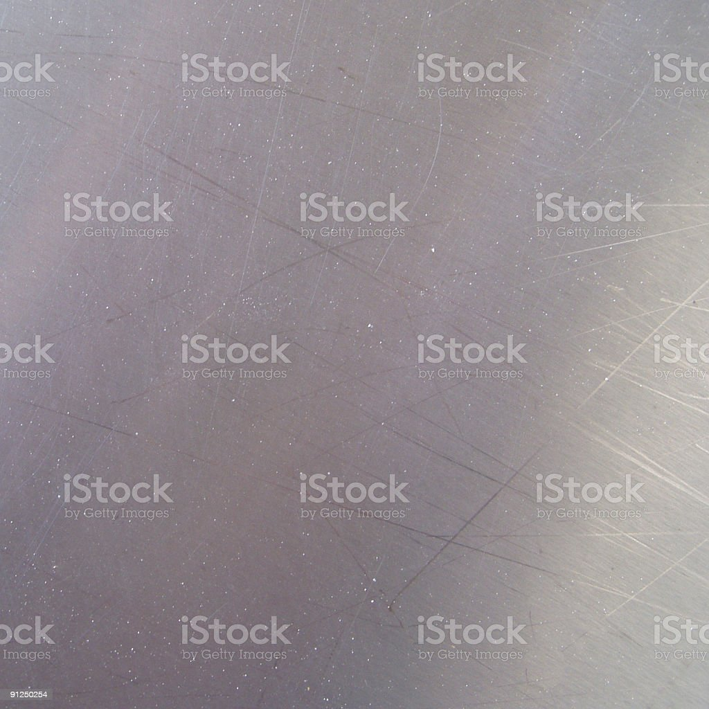 Chrome metallic plate (square) royalty-free stock photo