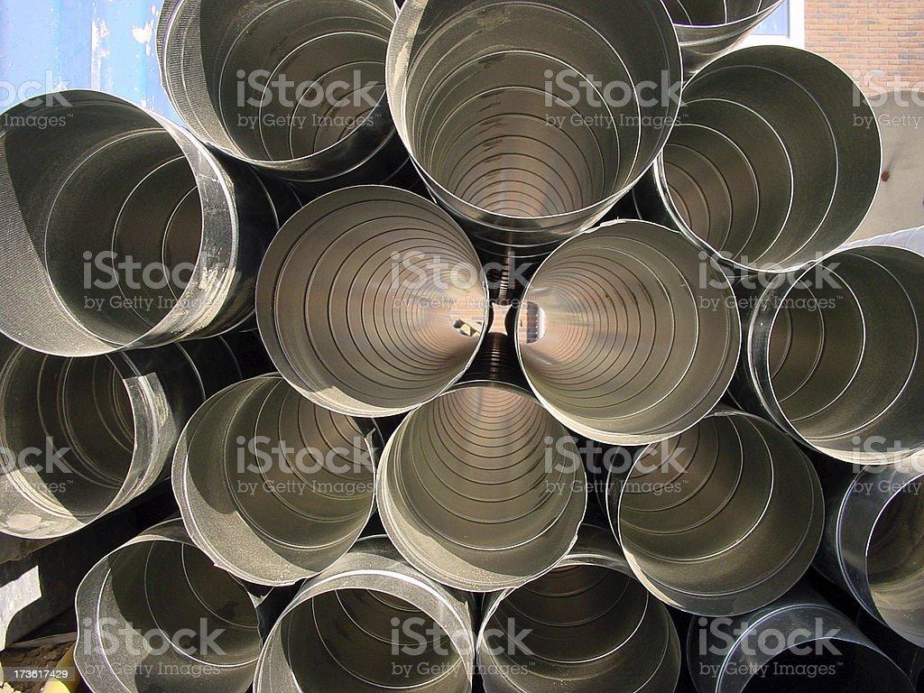 chrome pipes stock photo