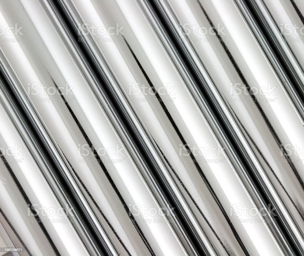 Chrome pipes that look like a texture royalty-free stock photo