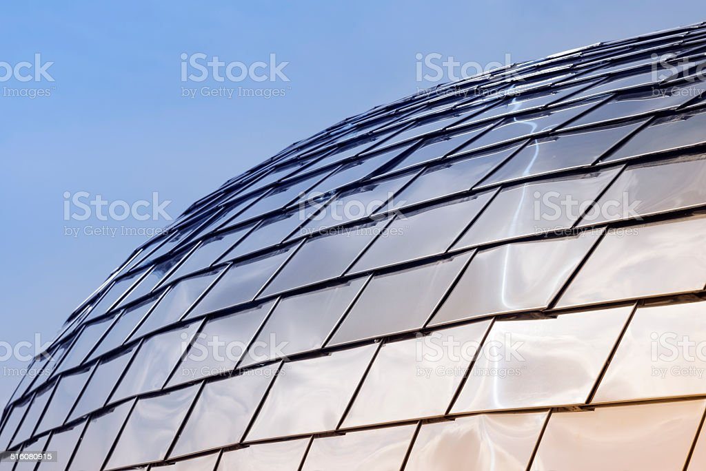 Chrome plated dome / business background stock photo