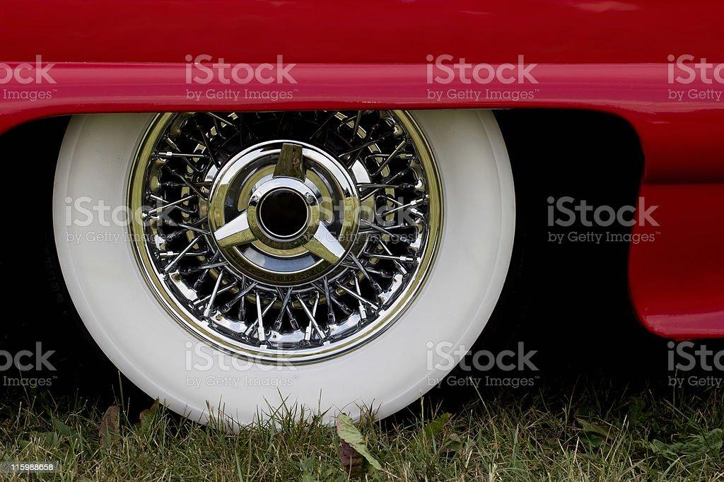 chrome rim stock photo
