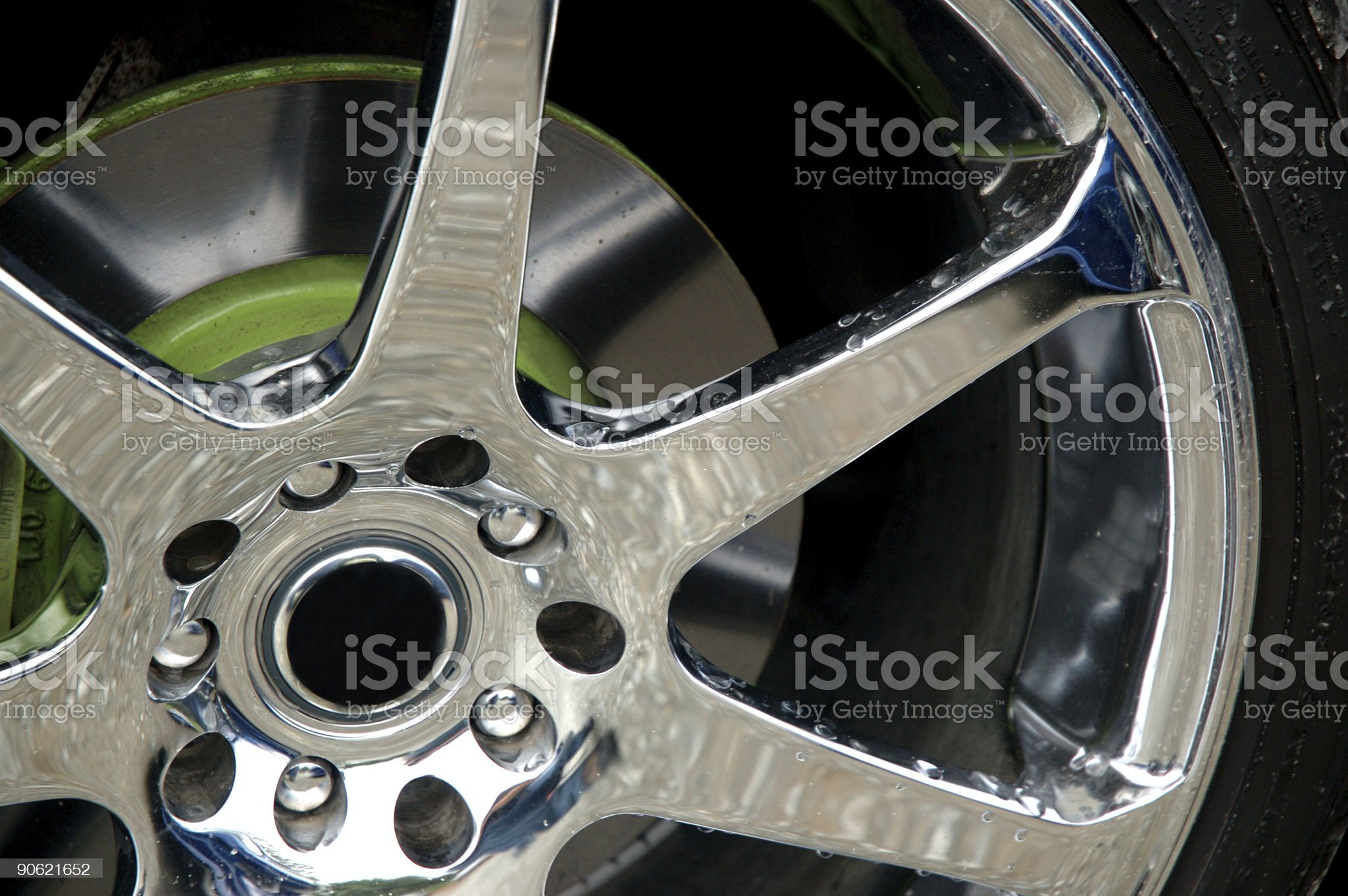 Chrome Rim royalty-free stock photo