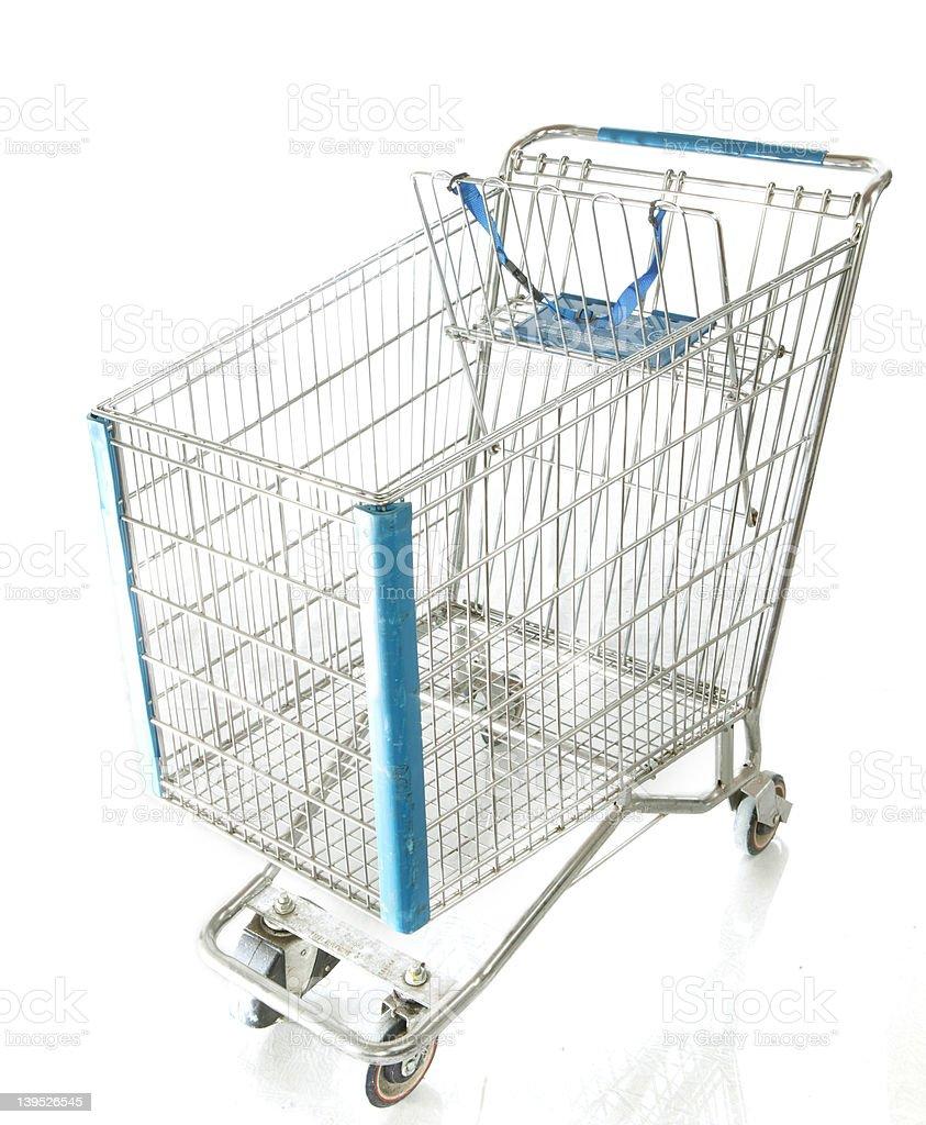 chrome shopping cart royalty-free stock photo