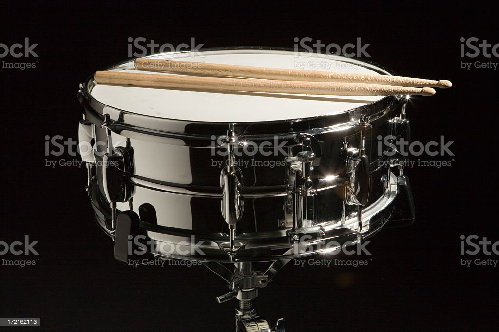 Chrome Snare Drum stock photo