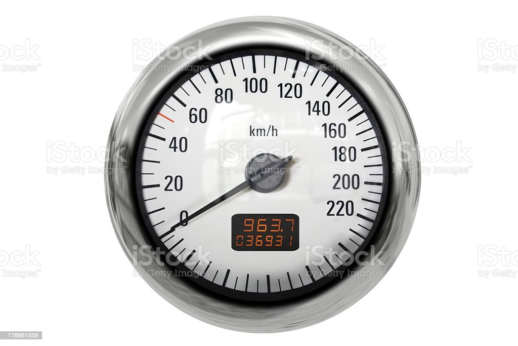 Chrome speedometer royalty-free stock photo