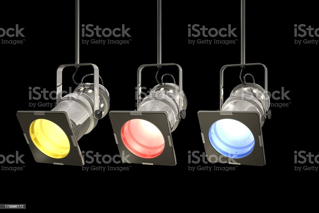 Chrome Stage Lights royalty-free stock photo
